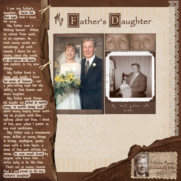 My Fathers Daughter layout