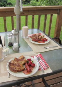 Brunch on the deck