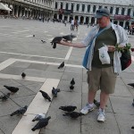 Stephen noted all the signs saying not to feed pigeons so, naturally...