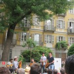 Gypsy jazz in the courtyard